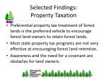 selected findings property taxation