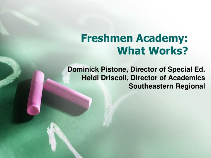 freshmen academy what works n.