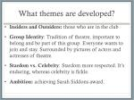 what themes are developed