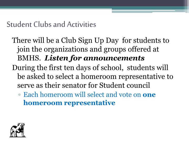Student Clubs and Activities