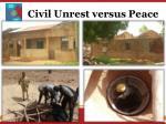 civil unrest versus peace