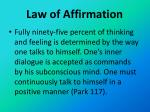 law of affirmation