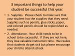3 important things to help your student be successful this year