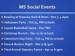 ms social events