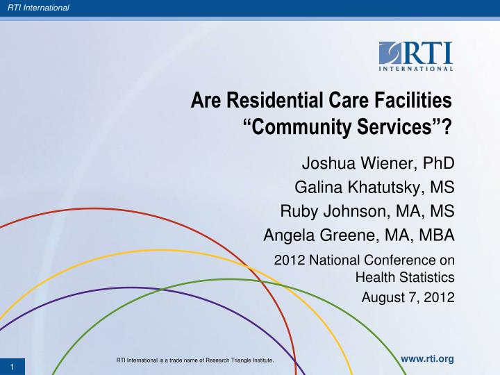 are residential care facilities community services n.