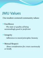 jmu values