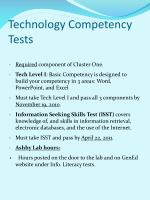 technology competency tests
