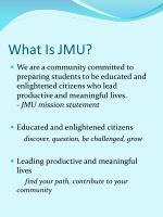 what is jmu