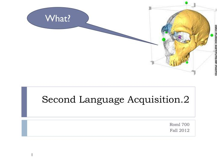 second language acquisition 2 n.