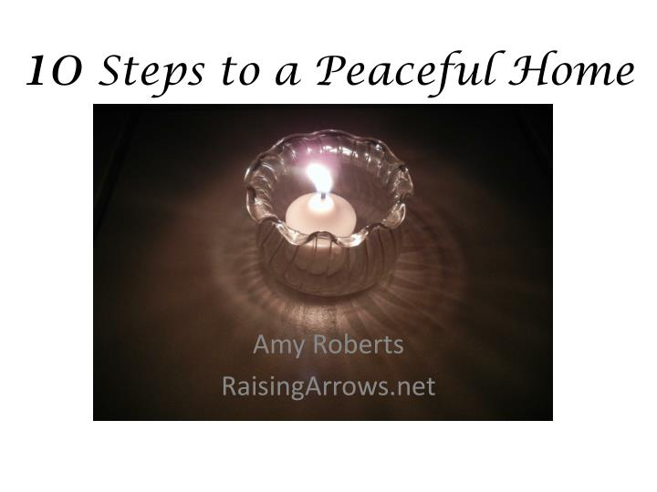 10 steps to a peaceful home n.