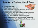 role with instructional team