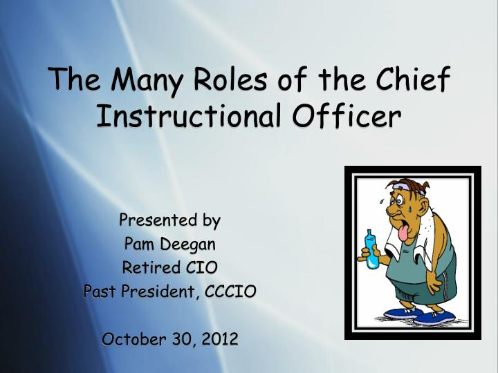 the many roles of the chief instructional officer n.