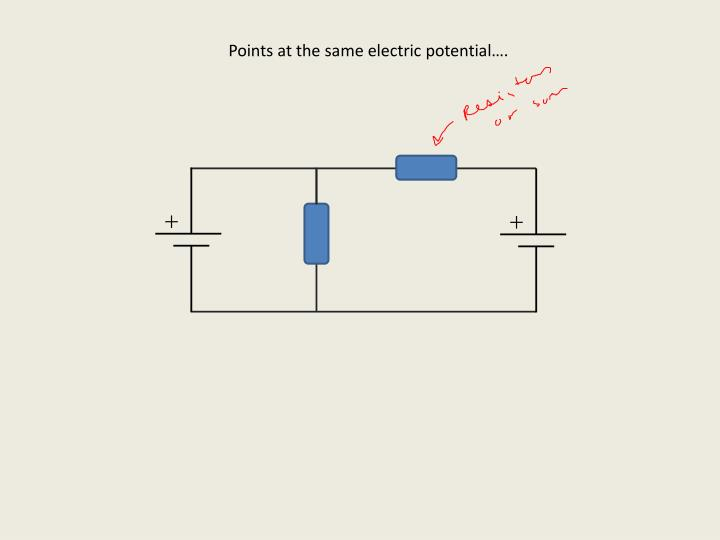 Points at the same electric potential….