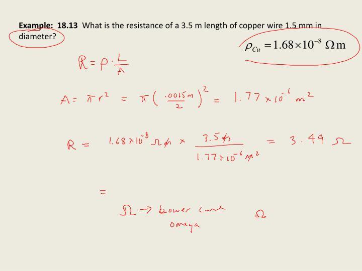 Example:  18.13