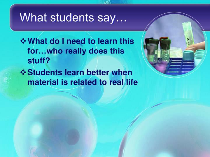 What students say…