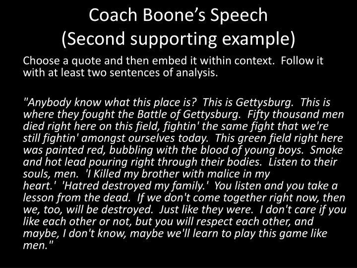 Coach Boone's Speech