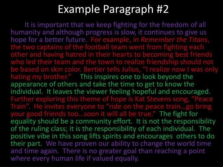 Example Paragraph #2