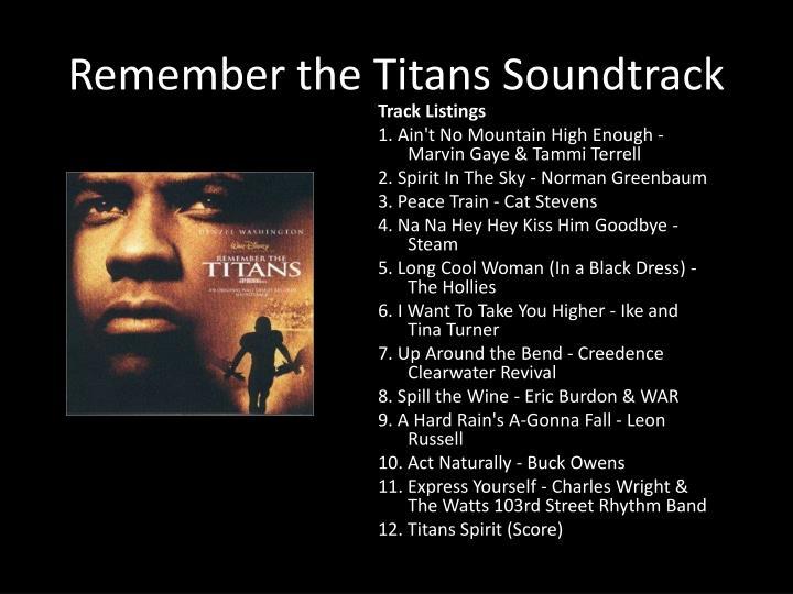 Remember the Titans Soundtrack