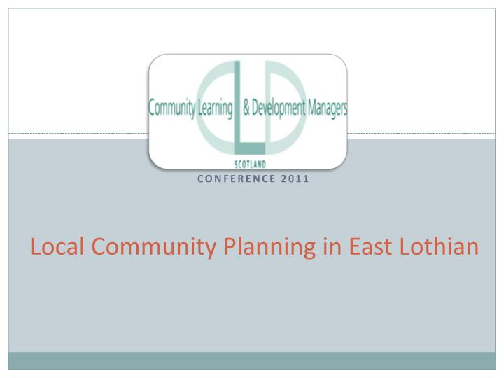 local community planning in east lothian n.