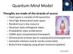 quantum mind model
