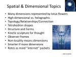 spatial dimensional topics