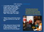 life lessons interview