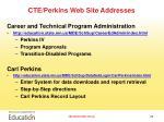 cte perkins web site addresses