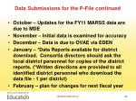 data submissions for the p file continued1