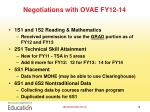 negotiations with ovae fy12 14