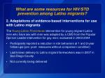 what are some resources for hiv std prevention among latino migrants5