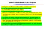 the parable of the little demons1