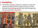 i feudalism