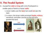 ii the feudal system