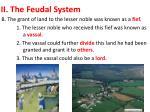 ii the feudal system1