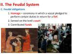 ii the feudal system2