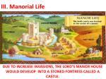 iii manorial life2