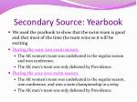 secondary source yearbook