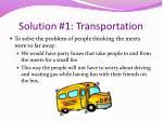 solution 1 transportation
