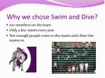 why we chose swim and dive