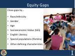 equity gaps