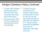 arlington cemetery s history continued