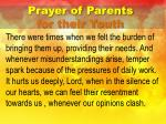 prayer of parents for their youth1