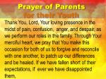 prayer of parents for their youth2
