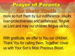 prayer of parents for their youth3