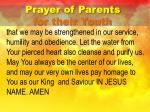prayer of parents for their youth4