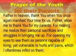 prayer of the youth for their parents