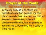prayer of the youth for their parents1