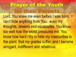 prayer of the youth for their parents2