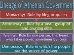 lineage of athenian government