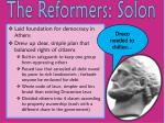 the reformers solon